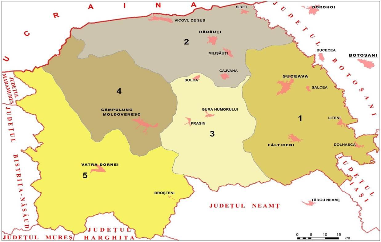Areale turistice din jud Suceava