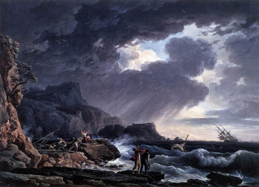 Pictura cu furtuna